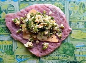 Фламенкины с начинкой из сыра, яйца и зеленого лука - фото шаг 3