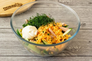 Салат с картофелем фри - фото шаг 5