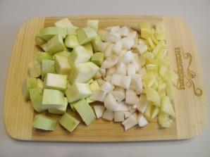 Печень с овощами в духовке - фото шаг 2