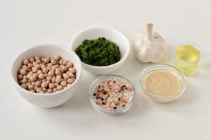 Зеленый хумус - фото шаг 1