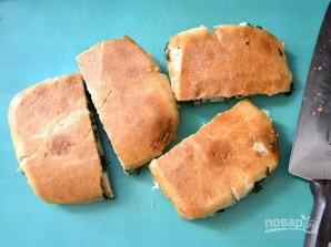 Бутерброды на сковороде с сыром и шпинатом - фото шаг 9