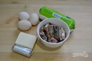 Салат с сардиной и сыром - фото шаг 1