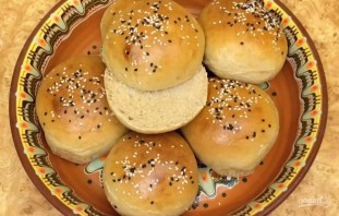 Амарантовые булочки для бургеров - фото шаг 5