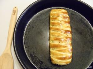 Пирог с рыбой из слоеного теста - фото шаг 12