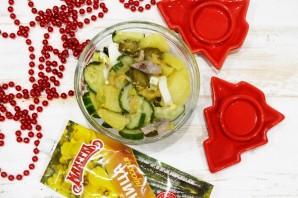 Селедочный салат с горчицей - фото шаг 6