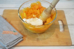 Картофельное пюре из батата с зеленью - фото шаг 5