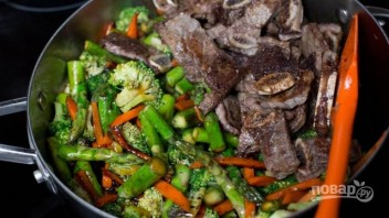 Жареное мясо с овощами - фото шаг 6