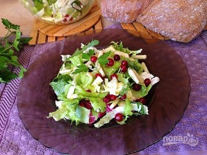 Свежий салат с сельдереем, яблоком и клюквой - фото шаг 6