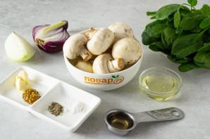 Салат с грибами шампиньонами жареными - фото шаг 1
