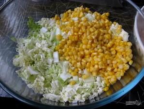 Салат из крабовых палочек и капусты с укропом - фото шаг 1