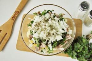 Рыбный салат из консервов с картошкой - фото шаг 5