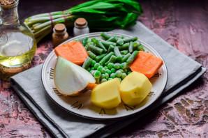 Рагу с зеленым горошком - фото шаг 1