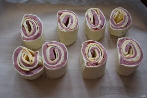 Запеченные булочки с ветчиной и сыром - фото шаг 7