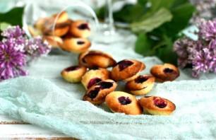 Лимонное печенье «Мадлен» с голубикой  - фото шаг 6