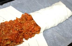 Пирог слоеный с мясом - фото шаг 5