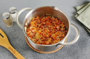 Рисовая каша с колбасой - фото шаг 5