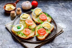 Бутерброды с креветками на праздничный стол - фото шаг 3