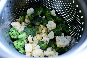 Запеканка из брокколи и цветной капусты - фото шаг 2