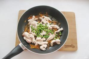 Китайский жареный рис с курицей - фото шаг 6