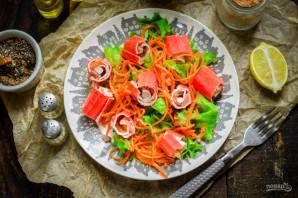 "Салат ""Маяк"" с корейской морковкой - фото шаг 8"