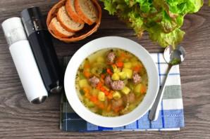 Суп с фрикадельками и кабачком - фото шаг 7
