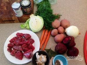 Суп (борщ) с мясом - фото шаг 1
