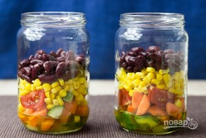 """Овощной салат """"Витамины в баночке"""" - фото шаг 3"""