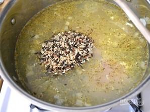 Сливочный суп с курицей и рисом - фото шаг 4