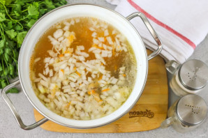 Рисовый суп с уткой - фото шаг 5