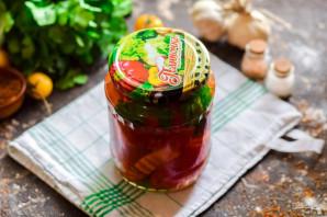 Помидоры соленые с болгарским перцем - фото шаг 8