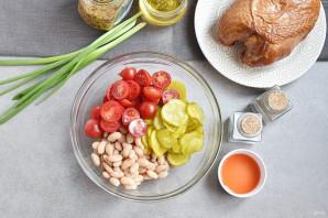 Салат без майонеза с курицей - фото шаг 2