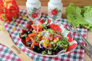 Критский салат - фото шаг 9