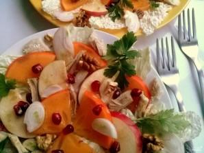 Салат с хурмой - фото шаг 4