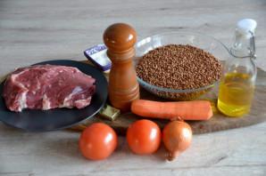 Гречка с телятиной в духовке - фото шаг 1