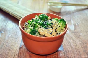 Рис с брокколи и курицей - фото шаг 11