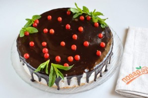 Праздничный торт с творожным кремом - фото шаг 14