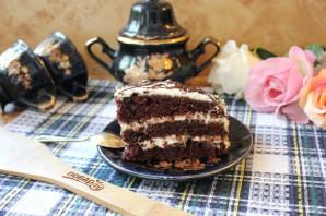 Шоколадный торт с черносливом и орехами - фото шаг 18