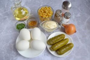 Салат из пасты с яйцами - фото шаг 1