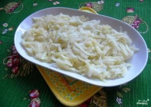 Салат с горбушей горячего копчения - фото шаг 1