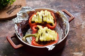 Болгарский перец фаршированный куриной печенью - фото шаг 8