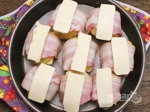Картофель с беконом, запеченный в духовке - фото шаг 6