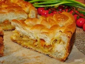 Пирог со свежей капустой - фото шаг 7