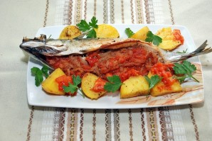 Рыба фаршированная и запеченная - фото шаг 8