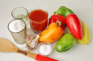 Лечо с томатным соком - фото шаг 1