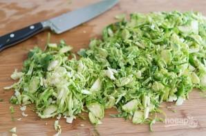 Тёплый салат с козьим сыром - фото шаг 1