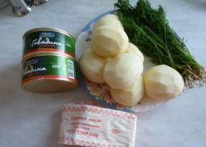 Картофельное пюре с тушенкой - фото шаг 1