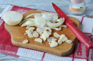 Маринованные баклажаны с чесноком и луком - фото шаг 5