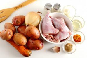 Кролик с картошкой в майонезе в духовке - фото шаг 1