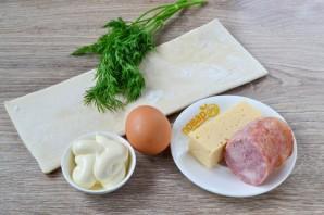 Закусочные слойки-рулетики - фото шаг 1