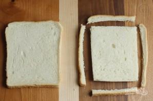 Жареный сэндвич с моцареллой - фото шаг 1